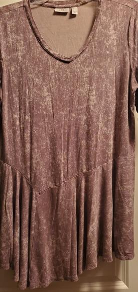 LOGO asymmetrical short sleeve tunic top